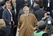 Ponchos in Peru at the APEC Summit