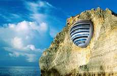 Cliff-Integrated Pod Resorts - The 'Sphere Hotel'