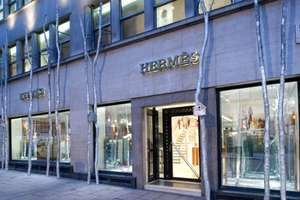 Hermes 'Silver Forest' Installation