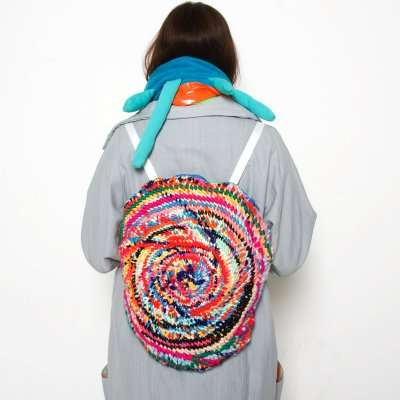Round Woven Rucksacks