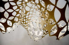 Lacy Plywood Lampshades