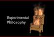 Experimental Philosophy