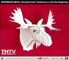 Ecotastic Gifts - From Cardboard Taxidermy to Plush Toy Chairs