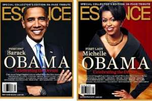 Barack and Michelle Obama on Essence Magazine