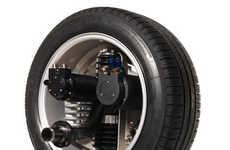 Intelligent Wheels in Gas-Free Cars