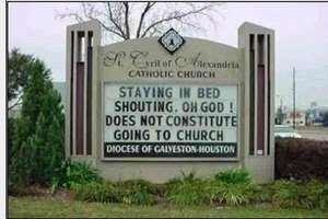 """Staying in Bed Shouting: Oh God! Does not Constitute Going to Church"