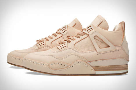Raw Leather Japanese Sneakers - The Hender Scheme Natural Sneakers Will Patina with Continued Wear