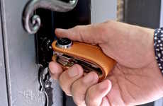 Digital Drive Key Organizers - The Skeyshop Leather USB Drive S-Key Keeps Storage at Your Fingertips