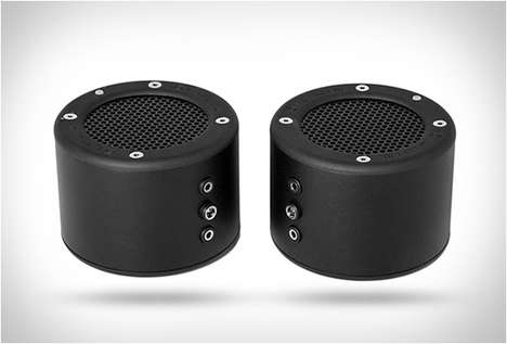 Compact Cylindrical Speakers - The Minirig Small Bluetooth Speaker Has a 50-Hour Battery
