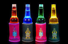 Illuminated Drink Holders - The Cooler Torch LED Koozie Creates a Chromatic Experience for Drinkers