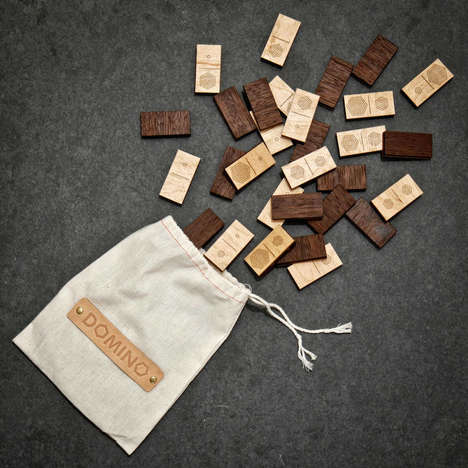Hexagonal Symbol Dominoes - The Atelier-D Wooden Domino Set is a Sophisticated Way to Play