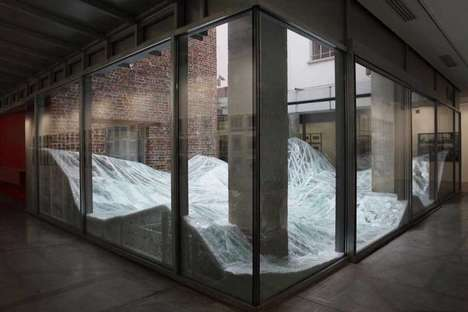 Shattered Glass Exhibitions - AERIAL by Baptiste Debombourg is an Art Glass Sculpture Sure to Awe