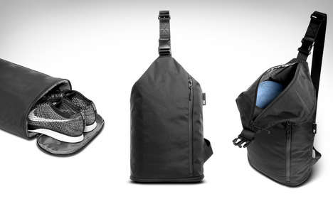 Ergonomically Organized Gym Bags - The Aer Sling Bag for Men is Designed to Be Chic and Functional