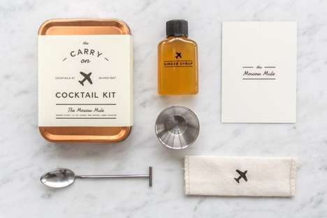 Travel Cocktail Kits - The Carry On Moscow Mule Cocktail Kit Ensures the Perfect Drink on the Road