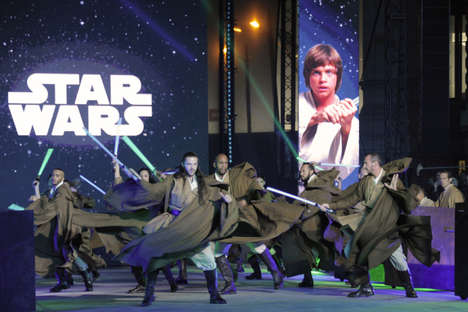 Galactic Christmas Shows - Galeries Lafayette Held a Star Wars Christmas Show for the Festive Season