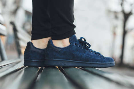 Valour Tennis Sneakers - The Adidas Stan Smith Night Indigo Athletic Shoes are Built for Style