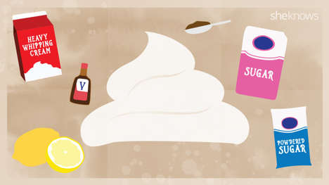 Whip Cream-Enhancing Guides - This Infographic Shares Dozens of Tips on How to Flavor Whip Cream