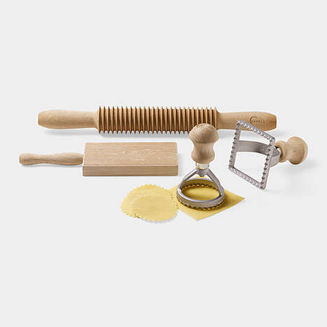 Antiquated Pasta-Making Sets - This Noodle Set Features All the Modern Equipment Need to Make Pasta