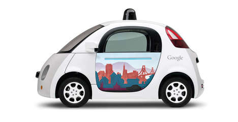 Doodled Autonomous Autos - Local Artists Use Drawings to Personalize Google's New Self-Driving Cars