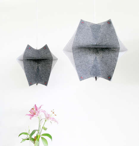 Origami Fabric Lights - The Se'Paar Hanging Lamps are Made from Layered Sheets of Buckram Material