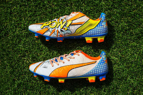 Pop Art Soccer Cleats - These PUMA 'evoPOWER' Pop Art Shoes are Inspired by 1950s Artworks
