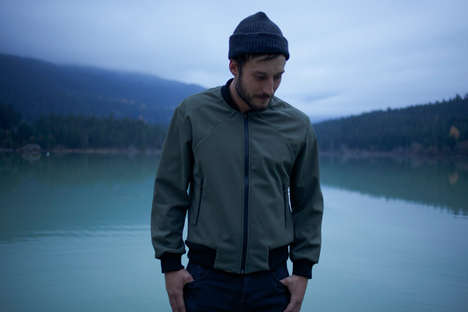 Slim-Fitting Winter Bombers - Coldsmoke's 'Tech Bomber' is Made from Waterproof Japanese Fabric