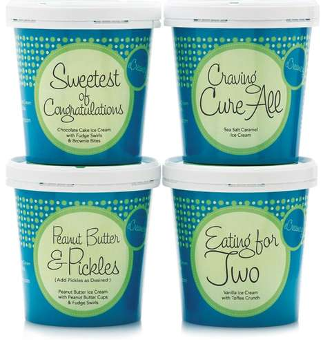 Pregnancy-Inspired Ice Cream - eCreamery's Collection Curbs Cravings of Ice Cream During Pregnancy
