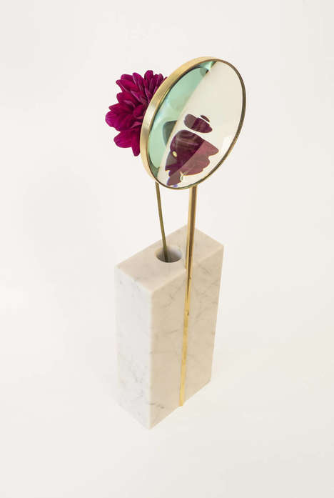 Floral Meditation Devices - This Magnifying Flower Vase by Alexandre Dubreuil Studio Soothes & Calms