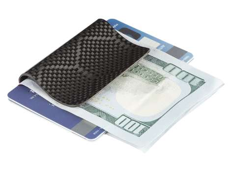 Strong Sculpted Money Clips - This Genuine Carbon Fiber Money Clip Keeps Money and Cards in Place