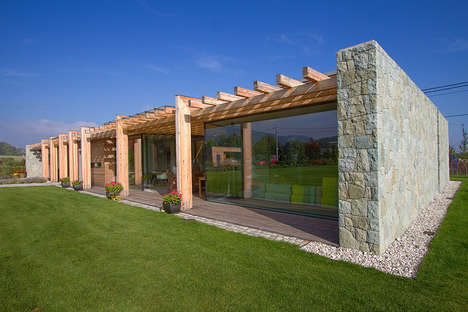Brilliant Stone Bungalows - This Cozy Retreat Features a Surprisingly Modern Design