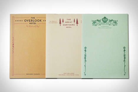 Movie Hotel Notepads - This Hotel Notepad Set Features Varieties from Famous Fictional Destinations