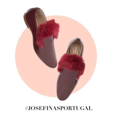 Festive Fur Slippers - The Josefinas 'Outlaw' Loafer Collection is Ideal for the Holiday Season