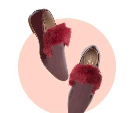 Festive Fur Slippers