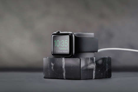 Marble Smartwatch Docks - The Native Union Marble Apple Watch Dock Charges Your Device with Style