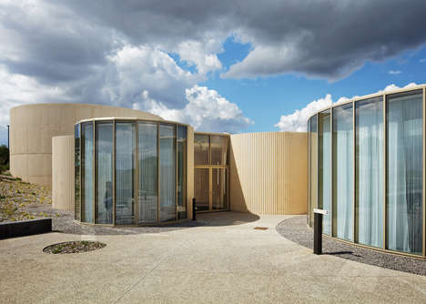 Curvaceous Concrete Crematoriums - This Modern Crematorium Provides a Peacful Space for Mourners
