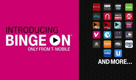 Unlimited Data Smartphone Plans - T-Mobile BingeOn Provides Users with Unlimited Content Streaming