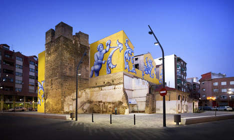 Community-Building Murals - This Cultural Square Was Refurbished to Promote Local Businesses