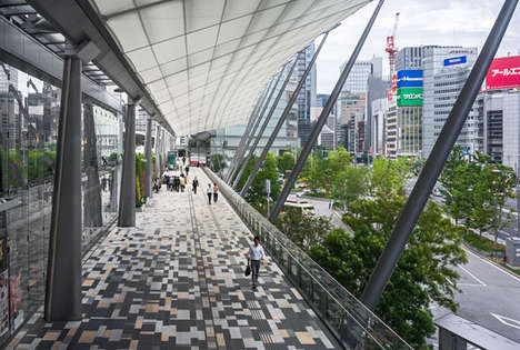 Illuminating Transport Hubs - This Tokyo Train Station Was Redeveloped into a Large Open-Air Space