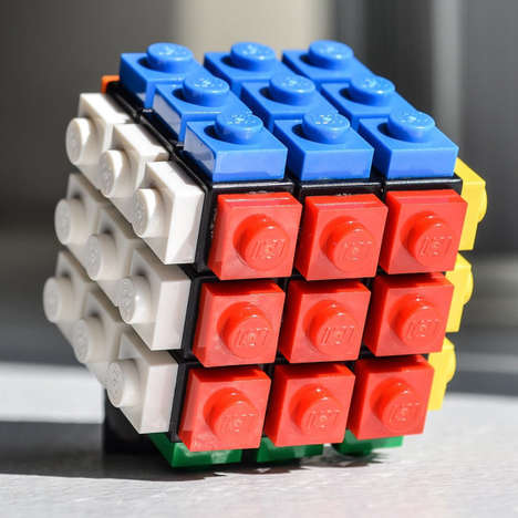 Building Block Brainteasers - This LEGO Puzzle is Designed After the Infamous Rubik's Cube