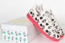 Diamond-Printed Sneakers
