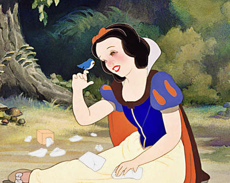 Teary Allergic Princesses - This Ilustrations Showcases Disney Personalities Sensitive to Animals