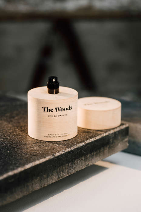 Wooden Perfume Bottles - 'The Woods' is a Fragrance Contained Within a Cylindrical Wooden Vessel