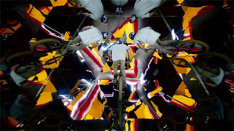 Illusionary Bike Trick Videos - This Red Bull BMX Video Features Kriss Kyle Biking a Moving Park