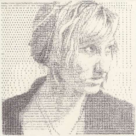 Intricate Typewriter Portraits - 'Textual Portraits' by Leslie Nichols Uses a Typewriter to Make Art