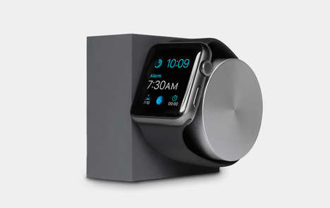 Rotating Smart Watch Docks - The Native Union Apple Watch Charger is Minimalist in Design