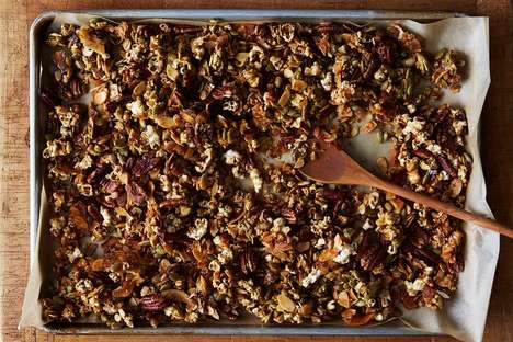 Popcorn-Based Breakfast Cereals - This Popcorn Granola is a Sweet and Salty Way to Start the Day