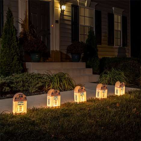 Outdoor Droid Lighting - These Geeky R2-D2 Electric Lights are Perfect for Illuminating Front Yards