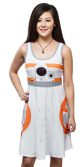 Galactic Droid Dresses - The Star Wars BB-8 A-Line Dress Transforms You into a Rolling Robot