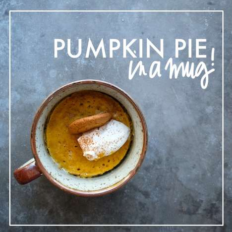 Personalized Pumpkin Mug Pies - This Recipe Offers a Single Serving of the Popular Autumnal Dessert