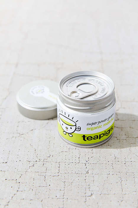 Pull-Tab Matcha Tins - Teapigs' Matcha Tea Powder Comes in a Small a Soda-Inspired Container